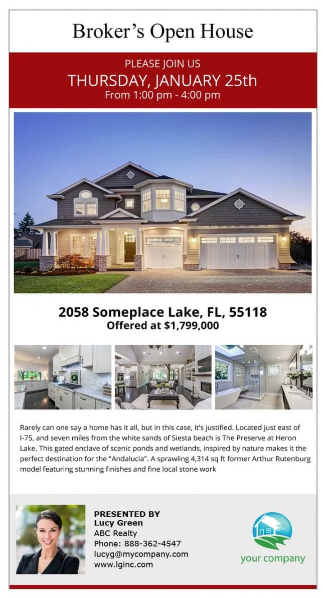 Get Our Example Of Broker Open House Flyer Template For Free Open House Flyer Template House