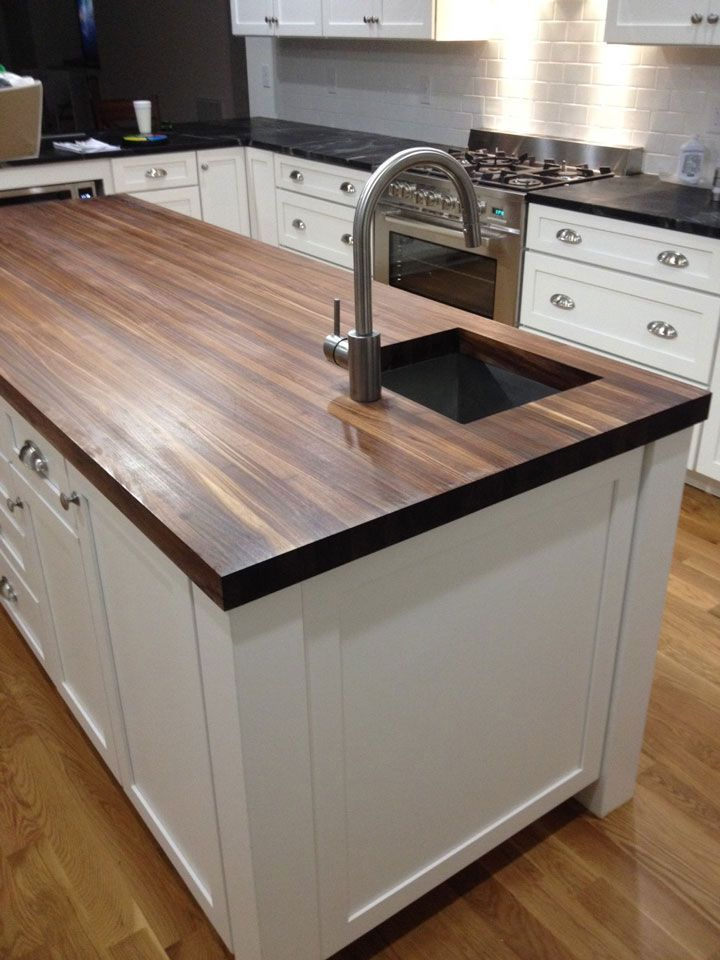 Prefinished Walnut Butcher Block Countertop - Add beauty and value to your home with our custom made Walnut Wood Butcher Block Countertops. Our Walnut . . .