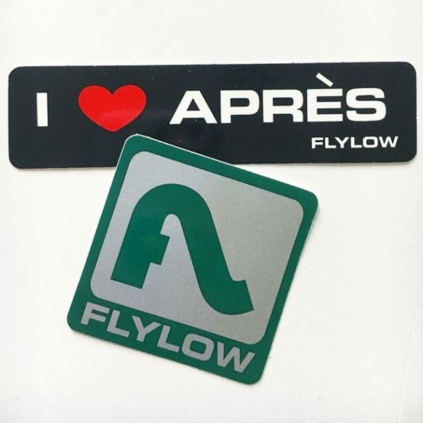 FLY LOW Gear STICKER Decal SKI Clothing NEW