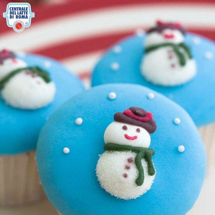 #Cupcakes con i pupazzi di neve