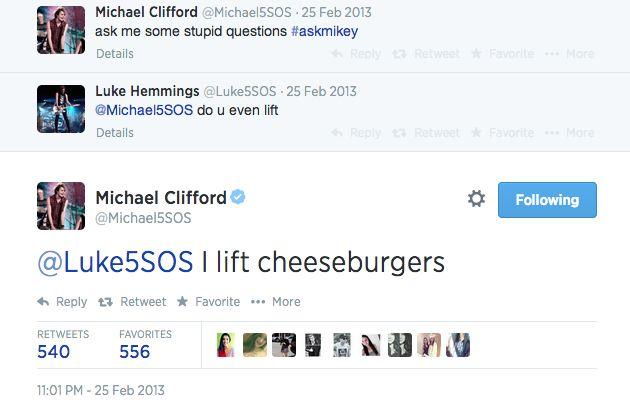 Michael Clifford and Luke Hemmings 5sos tweet