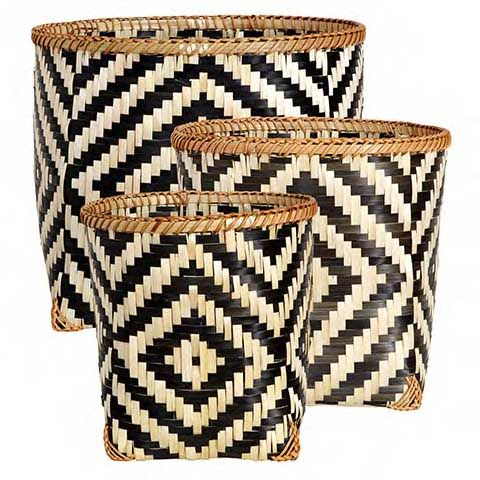 COLLECT Basket set of 3 square