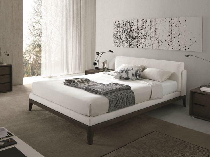 Upholstered fabric double bed assuan MisuraEmme Collection ...
