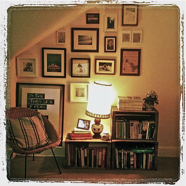 apple crate book shelf