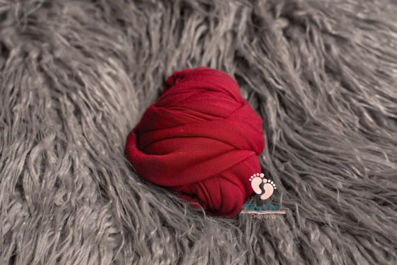 Red Jersey Knit Wrap Newborn Wrap Jersey Knit by TinyTotPropShop