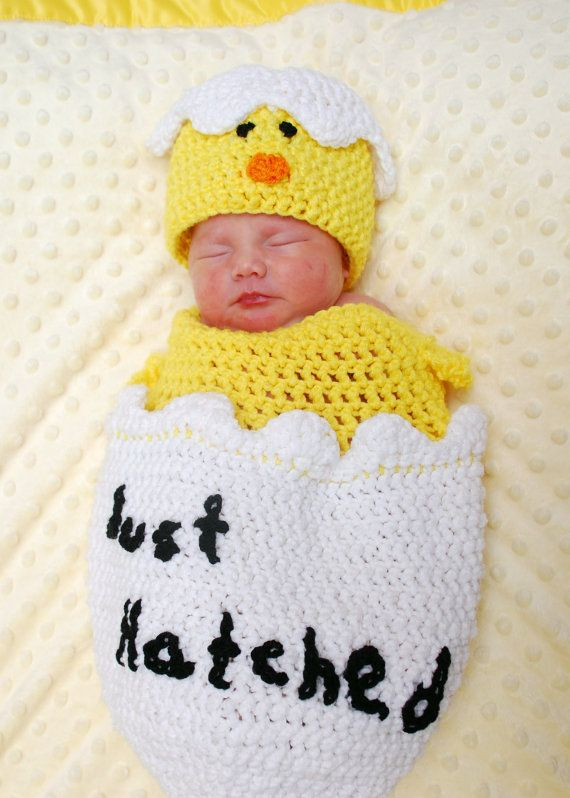 Hatching Egg Crochet Photo Prop Set This wonderful set is perfect for babies first picture. Great for those Easter babies but dont let that stop