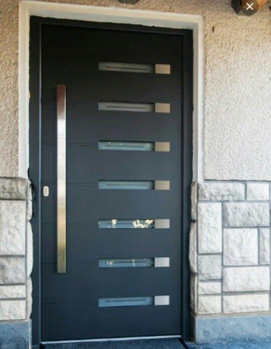 Aluminium doors modern aluminium doors for Front door design for flats