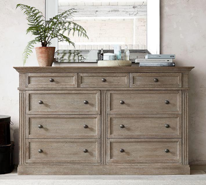 Livingston 9 Drawer Extra Wide Dresser Pottery Barn In 2020 Extra Wide Dresser Wide Dresser Furniture