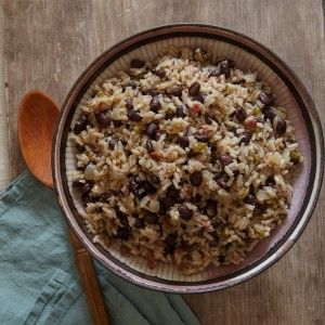 nice Cuban Rice and Black Beans