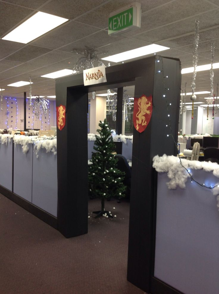 Christmas in the office - Narnia theme | Christmas in the ...