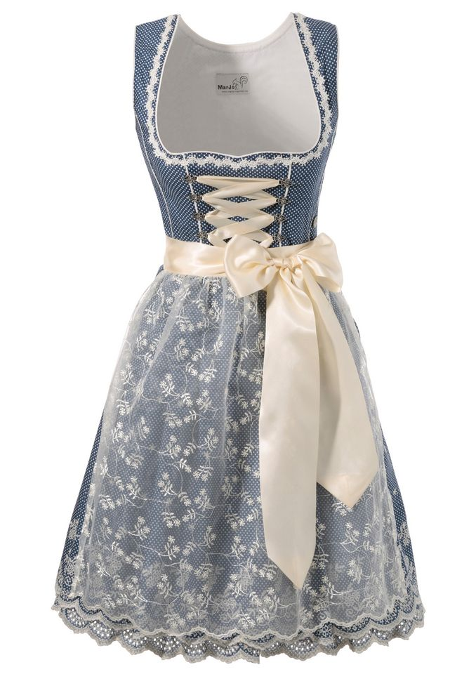 Short Marjo @aboutyoude dirndl with satin ribbon lacing