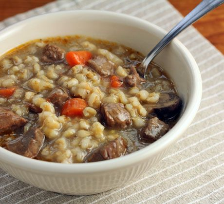 Beef barley soup recipe (pressure cooker or stove top) {The Perfect Pantry} #soup #pressurecooker