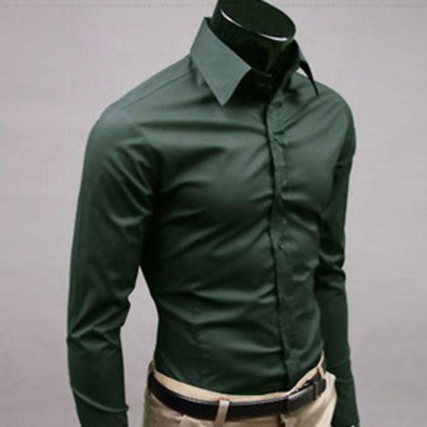 Collection Mens Dark Green Dress Shirt Pictures Best