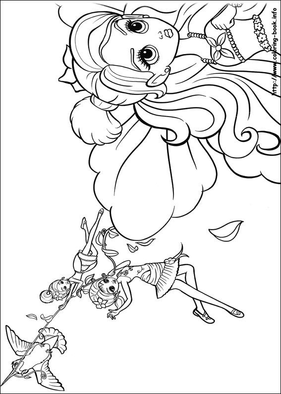 Free Coloring Sheets Of Barbie Thumbelina Printable Picture 15