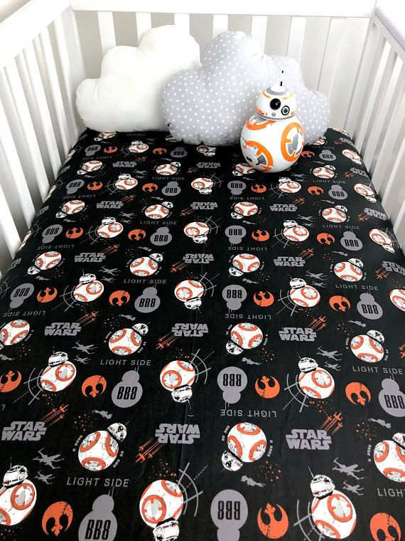 Bb8 Star Wars Crib Sheet Stars Wars Baby Sheet Star Wars Crib