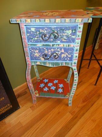 Houston: Wild Hand Painted Table $48   Http://furnishlyst.com/