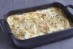 Four-Cheese Chicken Alfredo Recipe - Kraft Recipes *this ain't health food, but it's delicious.