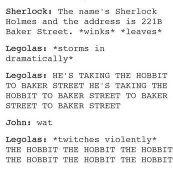 is this a case of Sherlockian Hiatus Insanity or is The Hobbit fandom crazy too?