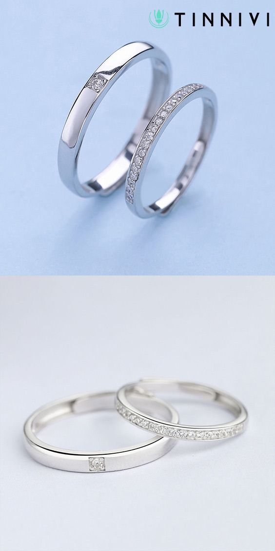 88abcdf3bf Shop ❤️Round Cut White Sapphire 925 Sterling Silver Simple Adjustable Promise  Ring For Couple❤️online️, Tinnivi #Jewelry creates quality fine jewelry ...