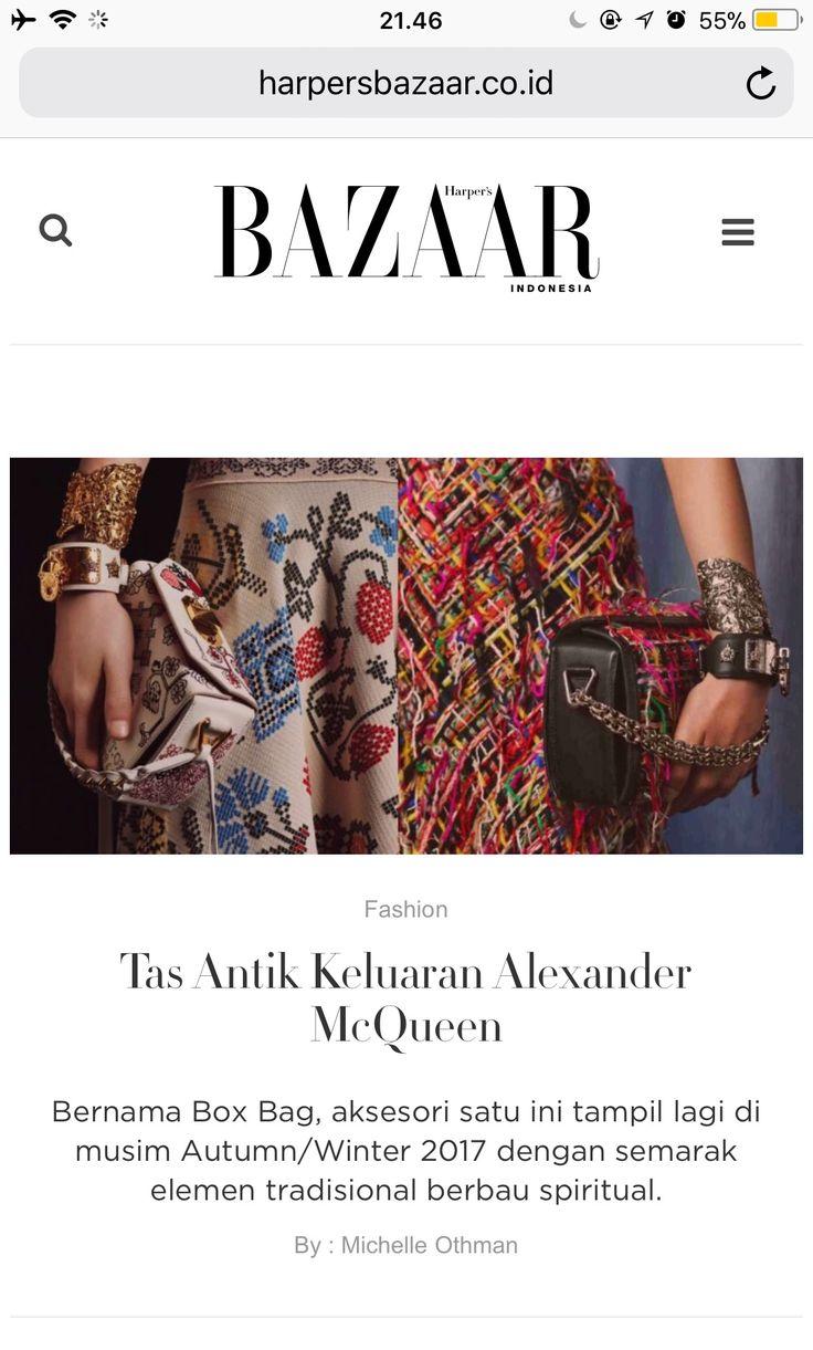 Alexander McQueen's new box bag - article for Harper's Bazaar website