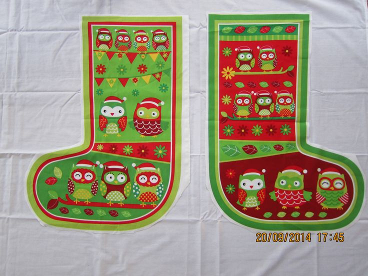 Large Red and Green Owl Sack (H 70 cm x top W 31cm and bottom W 47cm) - $29.95 each + postage