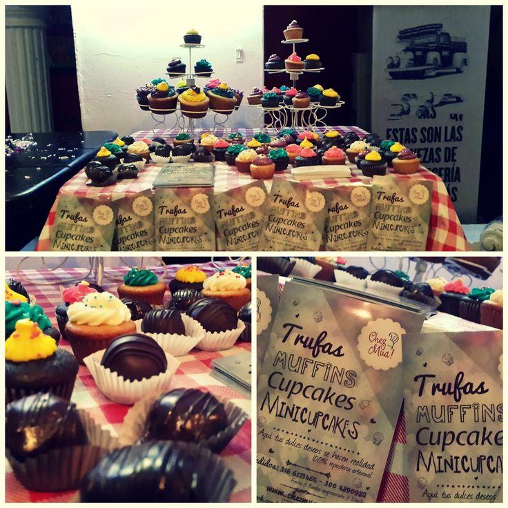 Dulces y tiernos. Las ferias nos encantan!   #Pâtisserie #Cupcakes #Trufas #MiniCupcakes