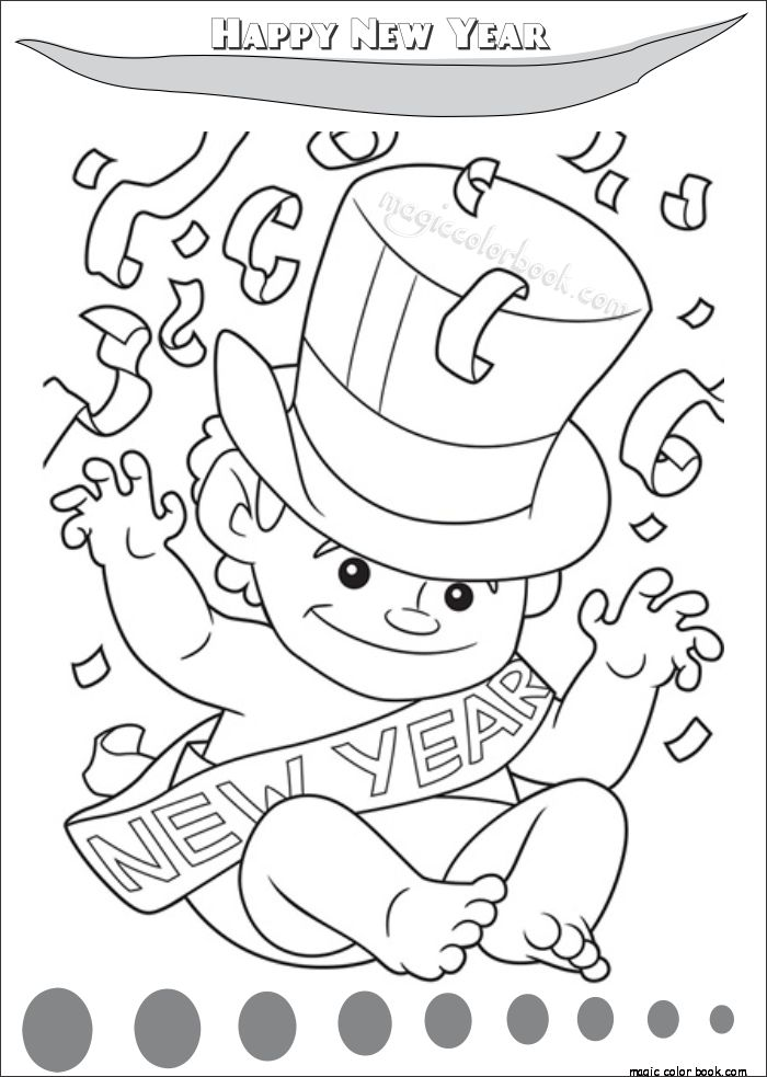The 40 best New Year Coloring pages free online images on Pinterest ...