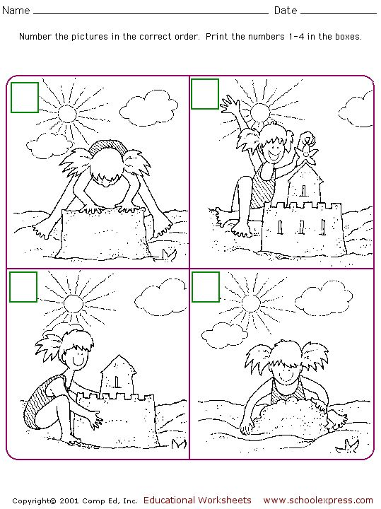 SchoolExpress.com - FREE worksheet for sequencing/retelling