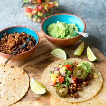 Vegan Tacos with Nut-Meat and Pineapple Salsa Recipe