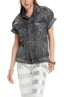 Scotch&Soda šedá džínová bunda s krátkým rukávem - 3024 Kč
