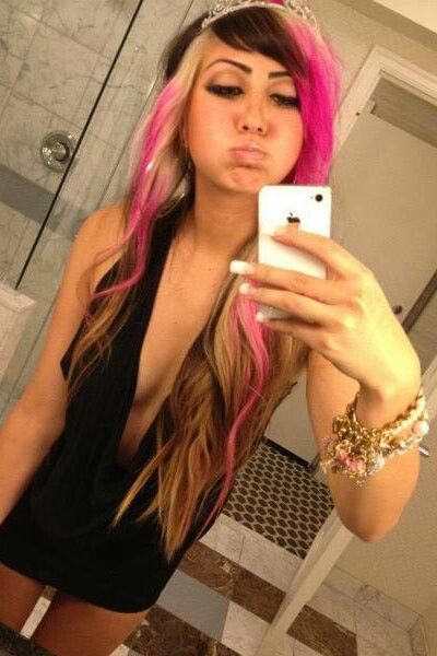 Tri color hair highlightshair color and extension hair color and