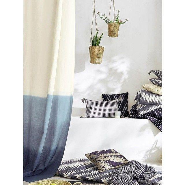 Rideau lin/coton tie & dye CYRILLUS