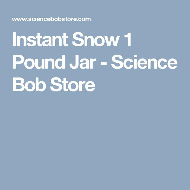 Instant Snow 1 Pound Jar - Science Bob Store