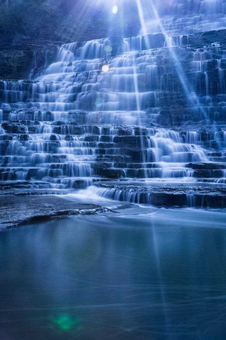 Hamilton Albion Falls ~ Niagara Escarpment in Red Hill Valey, Hamilton, Ontario, Canada by Ben Hero