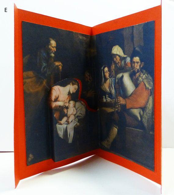biglietti natalizi. PRESEPI in 3D da famosi dipinti. Click the image to know more....