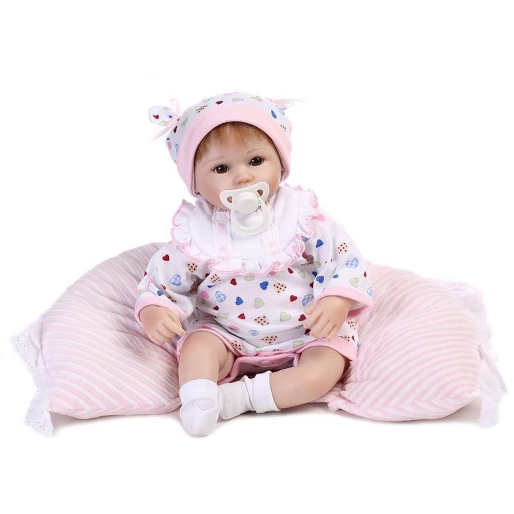 """Real touch 18"""" 40cm Silicone adorable Lifelike Bonecas Baby newborn"""