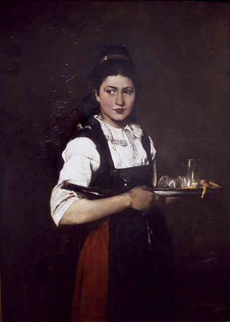 Munkácsy Mihály Lány tálcával