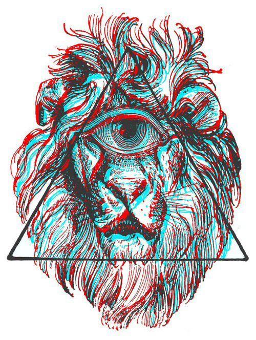 leão terceiro olho