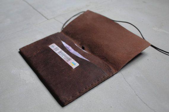 Кожаный бумажник Верн минимальный черный кожаный бумажник с PARTEMshop