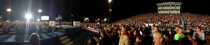 Romney Draws Crowd of 12,000 in Defiance, Ohio; Population 16,484–Obama Draws Crowd of 12,000 in Cleveland; Population: 393,806