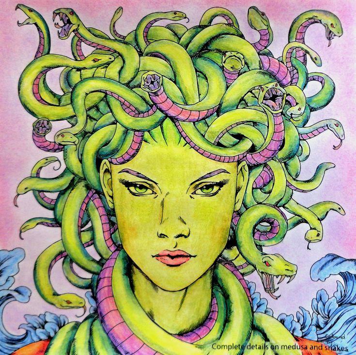 Nicholas F. Chandrawienata - Fantasia  Medusa Coloured with Derwent Academy