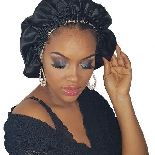 Des accessoires pour protéger vos cheveux bouclés, afro, emmêlés et bouclés   – Bonnet en satin adulte