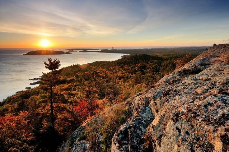 """Sugarloaf Sunrise"" - Sugarloaf Mountain Marquette, Michigan, USA"