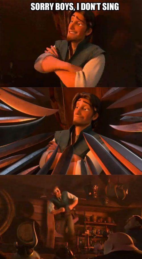 I love Eugene/Flynn Rider. He's definitely my favorite character XD