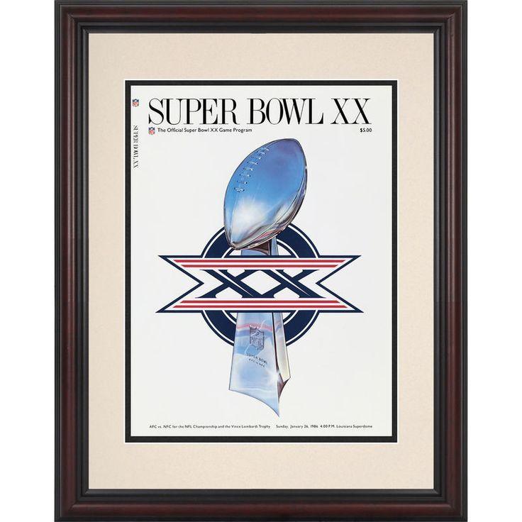 "Fanatics Authentic 1986 Bears vs. Patriots Framed 8.5"" x 11"" Super Bowl XX Program"
