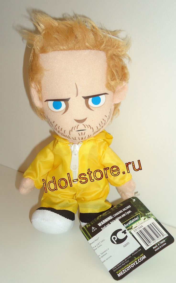 Mezco Toyz - Breaking Bad - Jesse Pinkman Plush Doll. Во все тяжкие - Джесси Пинкман в жёлтом защитном костюме - плюшевая кукла * фигурка - игрушка мягконабивная
