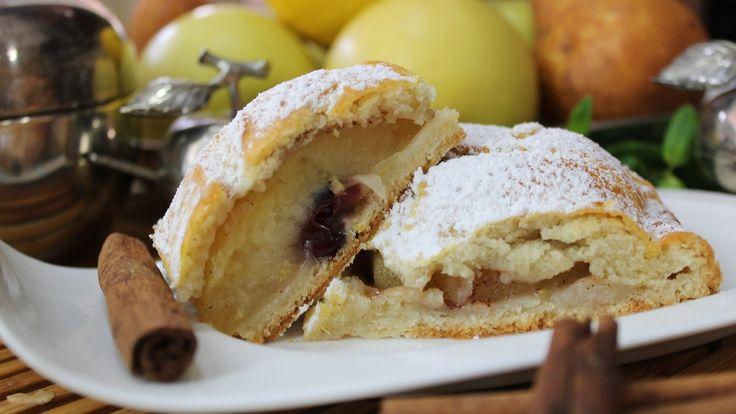 Рецепт- Яблочный пирог на творожном тесте