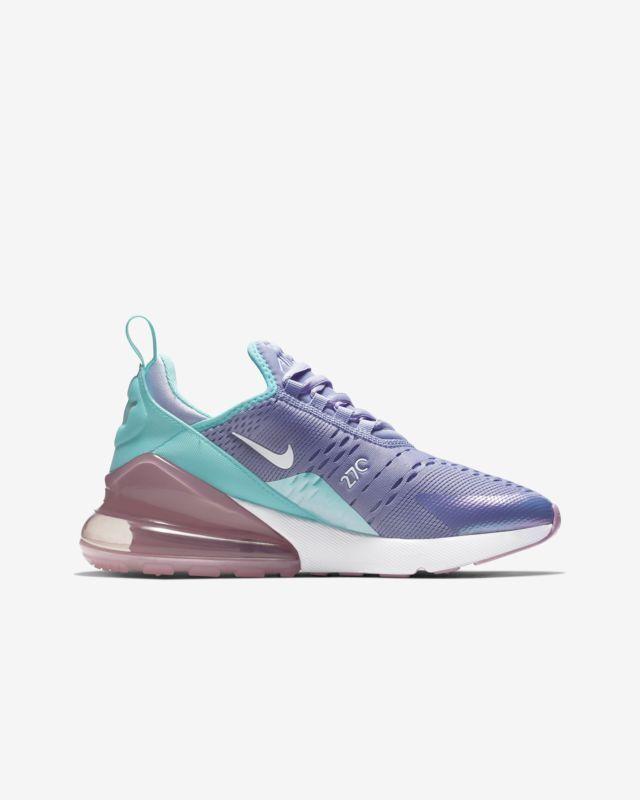 Nike Air Max 270 Twilight Pulse Light Aqua Purple Blue ABV1236 400 Kids  Girls GS 49c1717e3e2f5