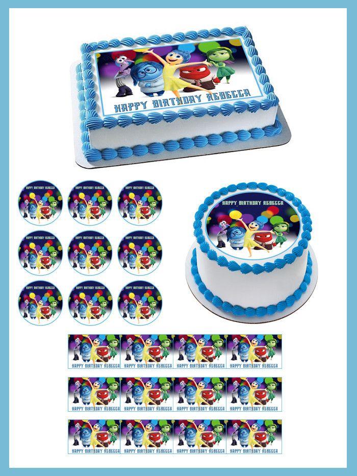 Inside Out Anger 2 Edible Birthday Cake OR Cupcake Topper – Edible Prints On Cake (E.P.O.C)