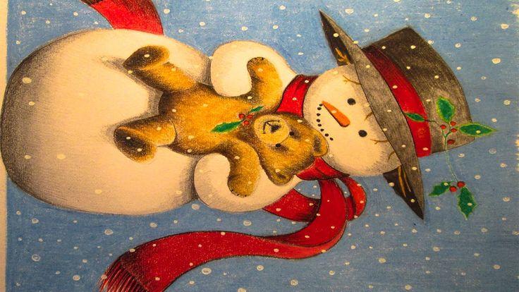 Especial navidad, dibujo de un muñeco de nieve by TheMaxiArte